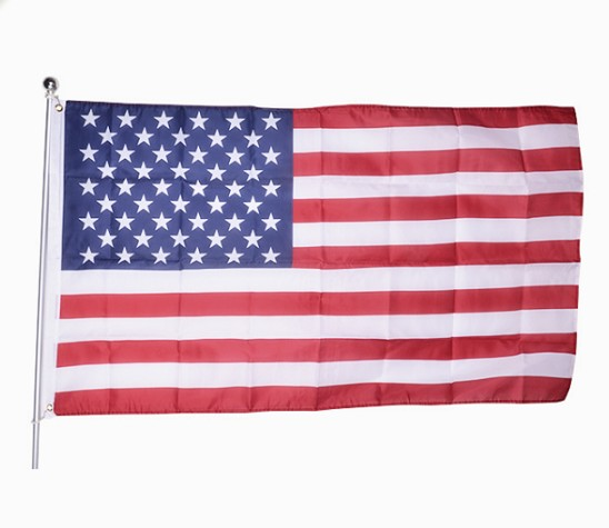 Factory price custom polyester national flag american flag